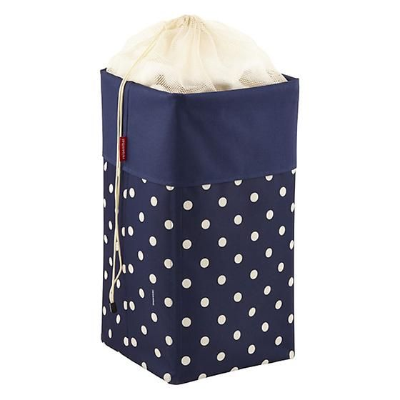 Reisenthel Wäschekorb navy sand dots laundry box by reisenthel