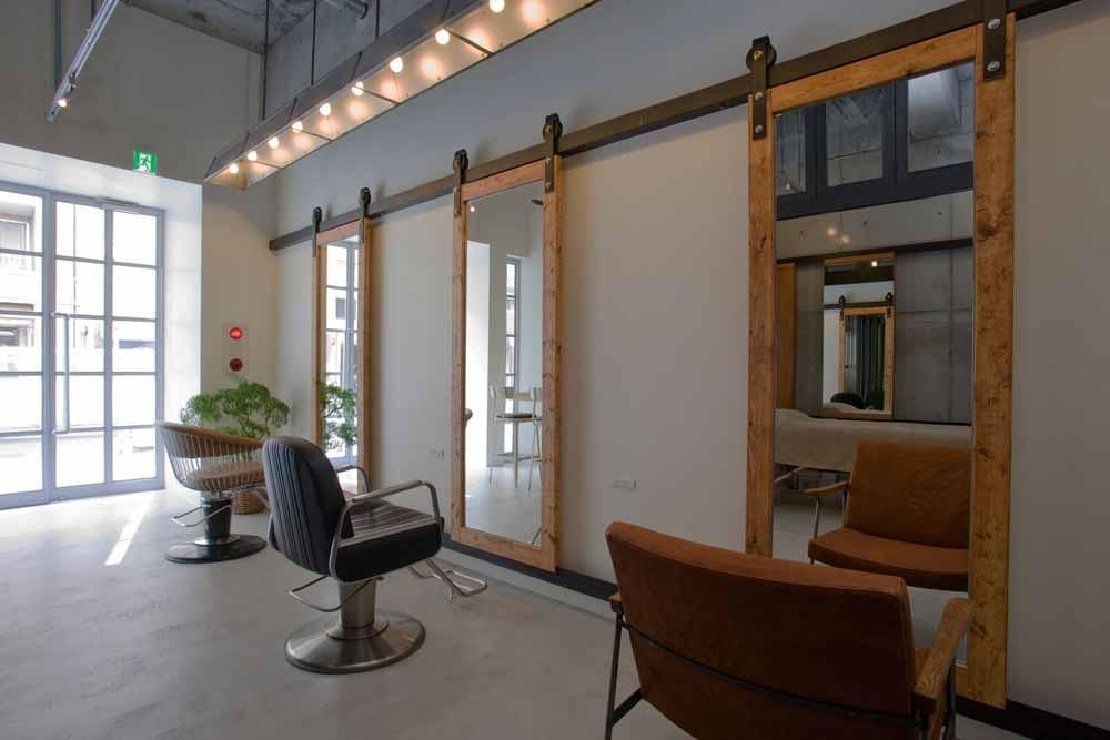 Barn Door Track Mirrors But Done Less Modern Hair Salon