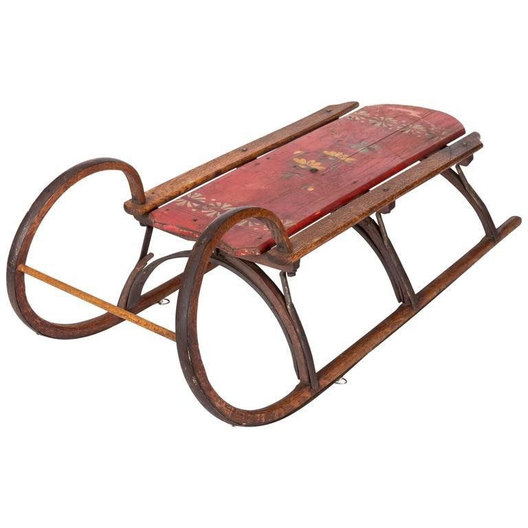 19th Century Bentwood And Iron Ram Horn Sled Ram Horns Century