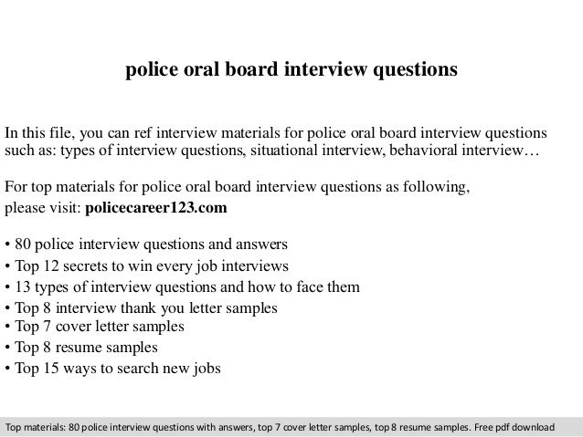 Police oral board interview questions randoms Pinterest Board - interview questions and answers