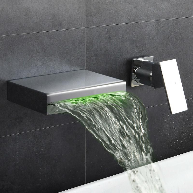 Washbasin Waterfall Faucet Hot Cold Water Taps With Images