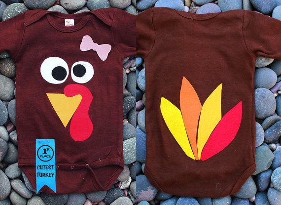 4f97fe97a Girl or Boy Turkey Onesie. 1st Place Cutest Thankful by PropMama, $8.50