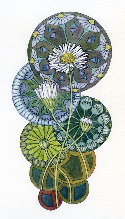 Art Nouveau Tattoo Nouveau: Art Deco Flower - Google Search