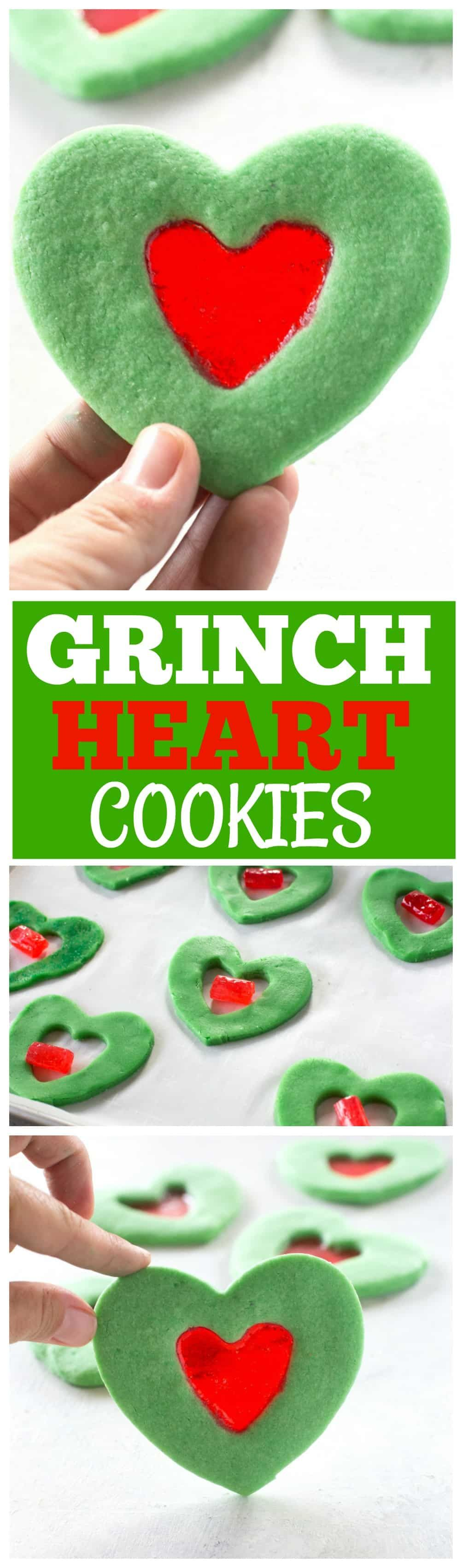 Heart These Grinch Heart Cookies are magical little treats that you can make at Christmas with your