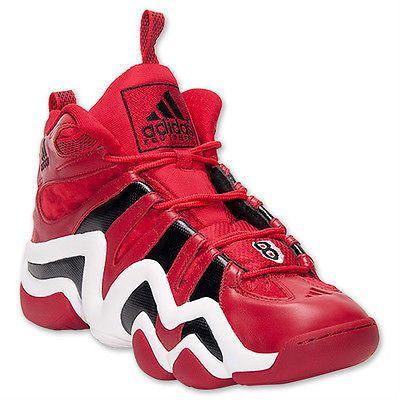 New Men's adidas Crazy 8 Black/Red/White Size 19 Basketball Shoes