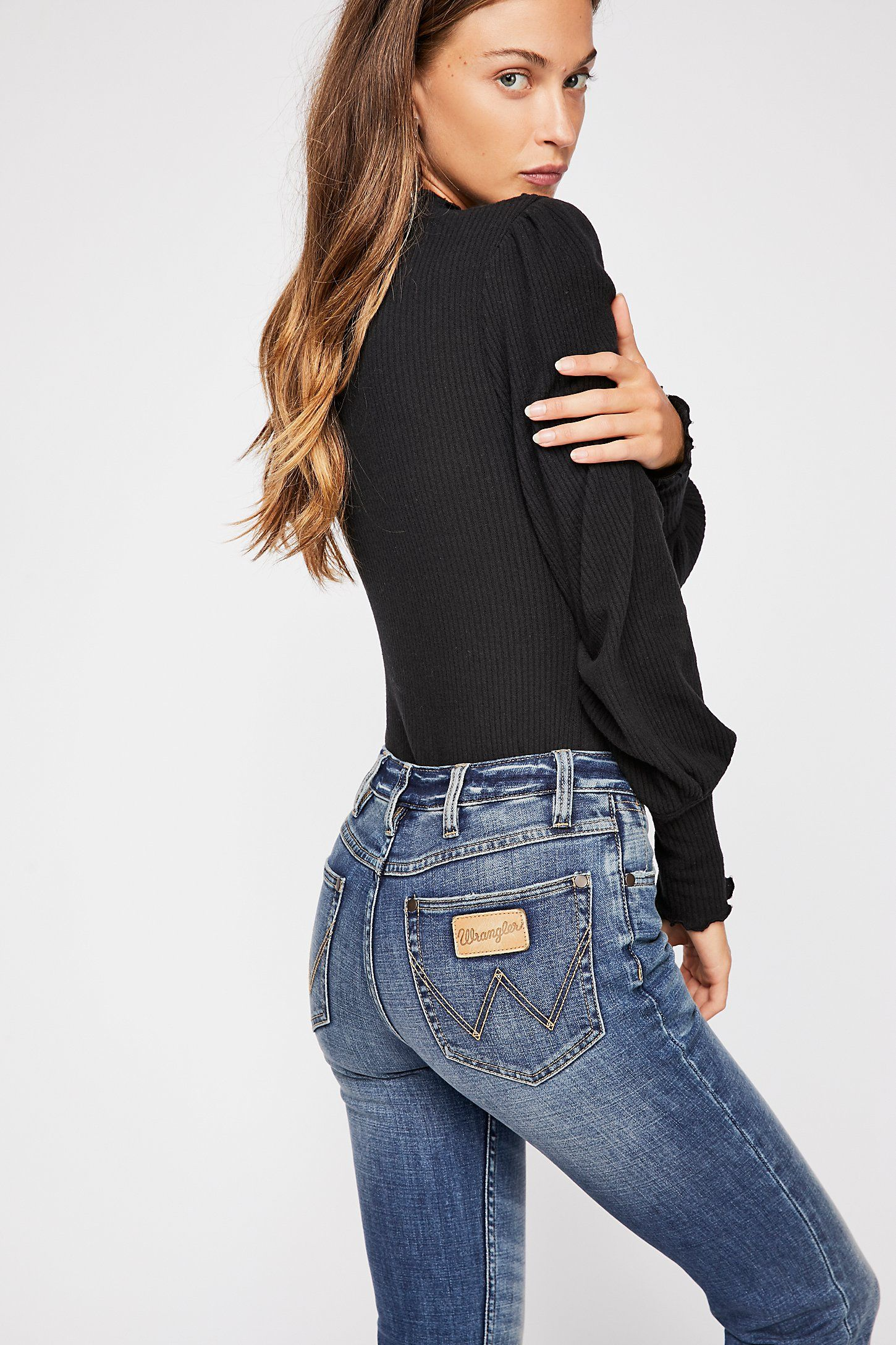 8062f0fc1cf Wrangler Exaggerated Bootcut Jeans in 2019 | Wardrobe | Jeans ...