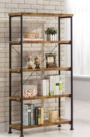 wood and metal shelves - Google Search Muebles Pinterest