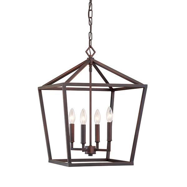 Geometric cage lantern in vintage gold by millennium lighting lighting connection