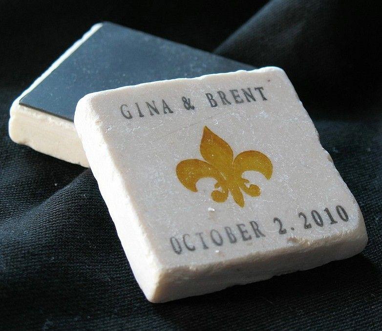 Gold Fleur De Lis Save The Date Magnets Or Wedding Favors Lu S