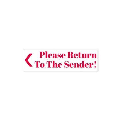 Please Return To The Sender!\