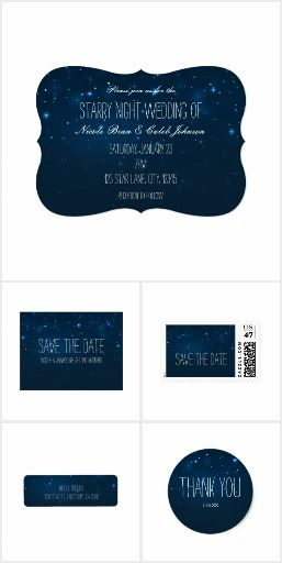 Starry Night Sky Blue Wedding Collection