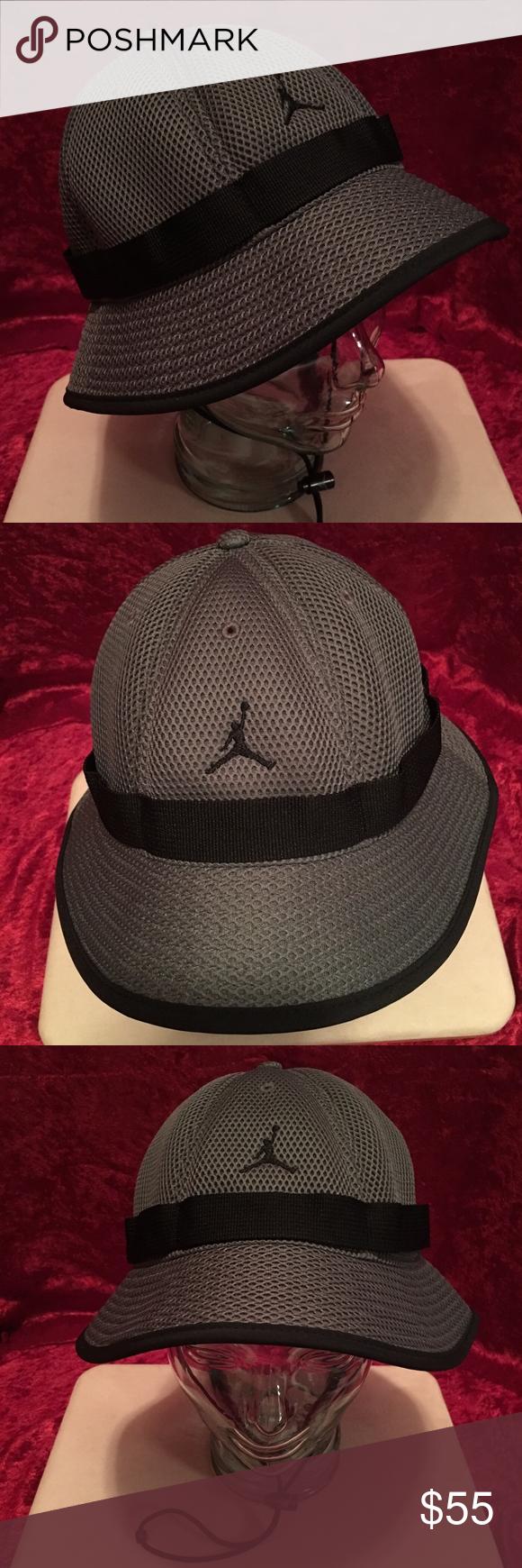 308cb44a508 ... cheap new jordan mesh dark gray black bucket hat unisex new michael  jordan mesh jersey material