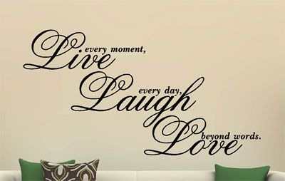 Live Laugh Love Vinyl Decal Wall Art Sticker Quote Saying Words Phrases
