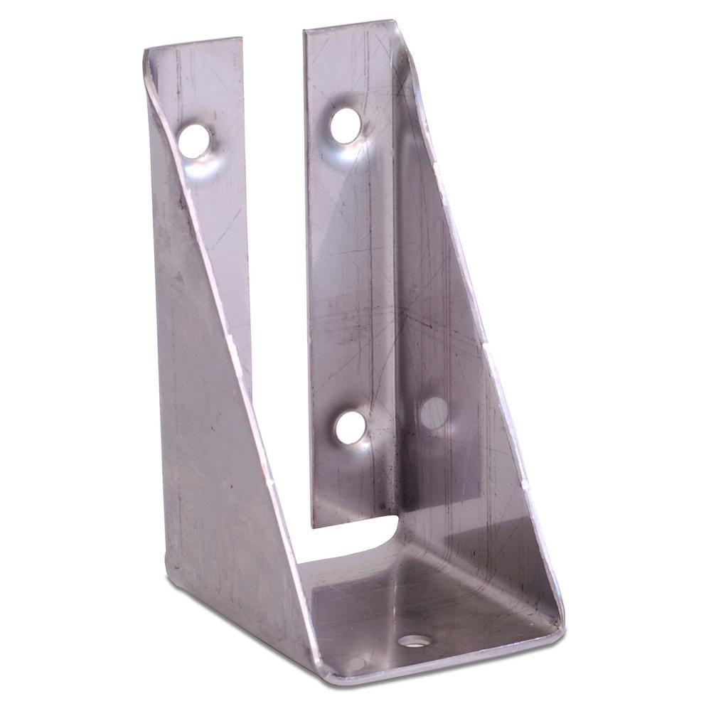 Decklok unfinished 316 stainless steel bracket with screws