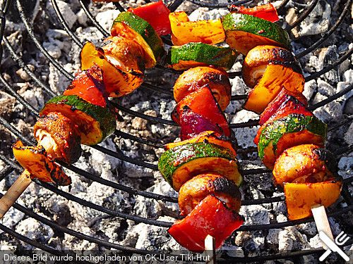Schaschlik vegetarisch #grillingrecipes