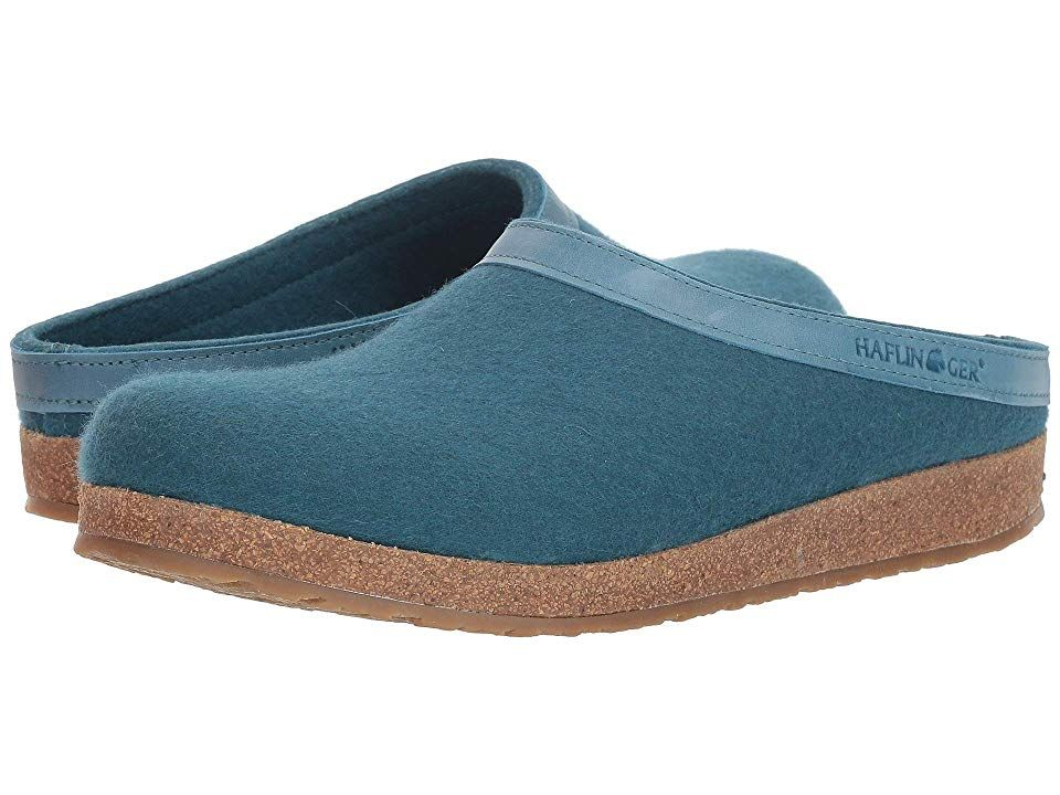 3c46c6449b6 Haflinger GZL Leather Trim Grizzly (Turquoise) Clog Shoes. The GZL Leather  Trim Grizzly clog from Haflinger offers fierce warmth and comfort.