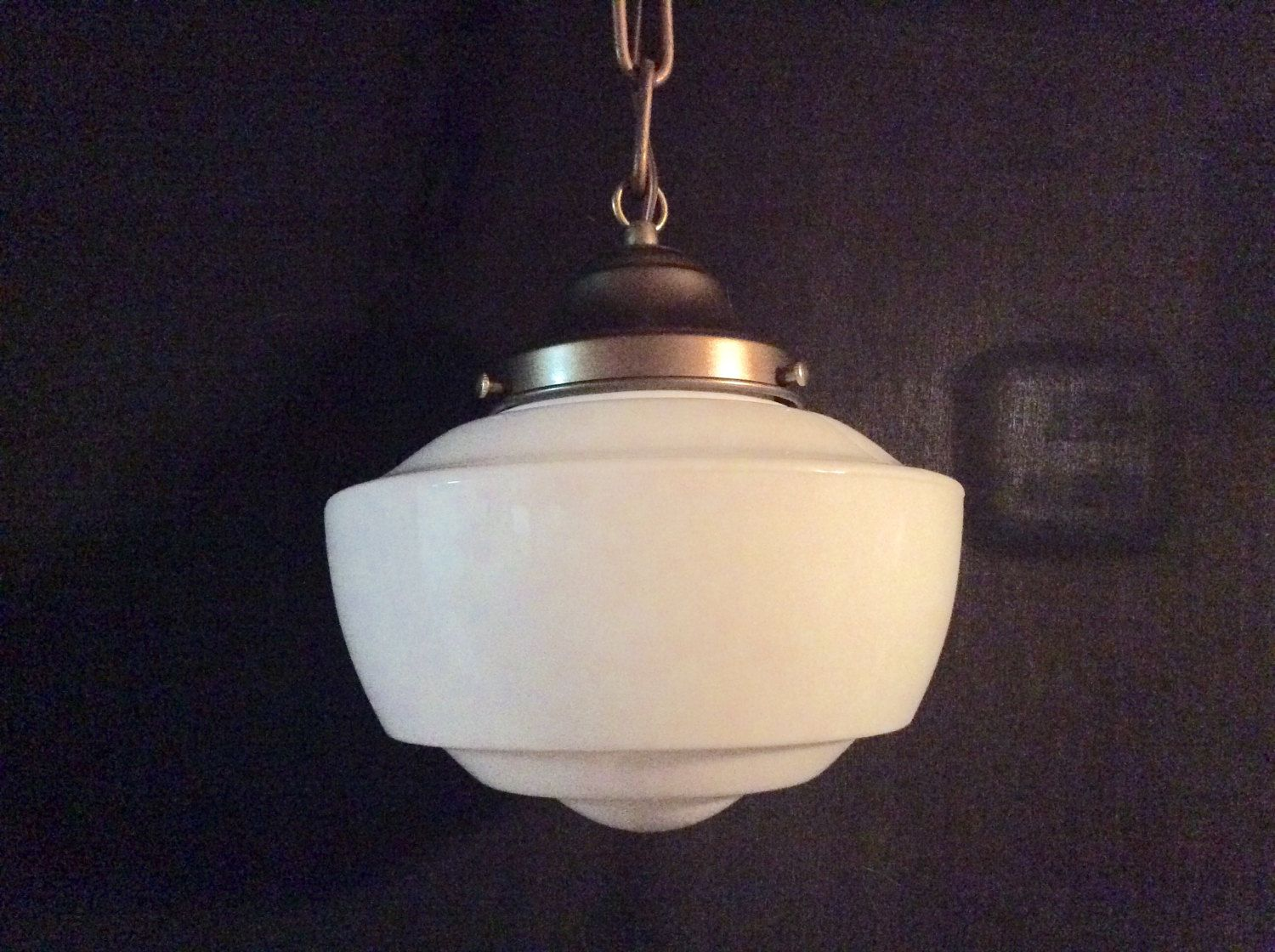 Antique Hanging Church Industrial or School House Pendant Light ...