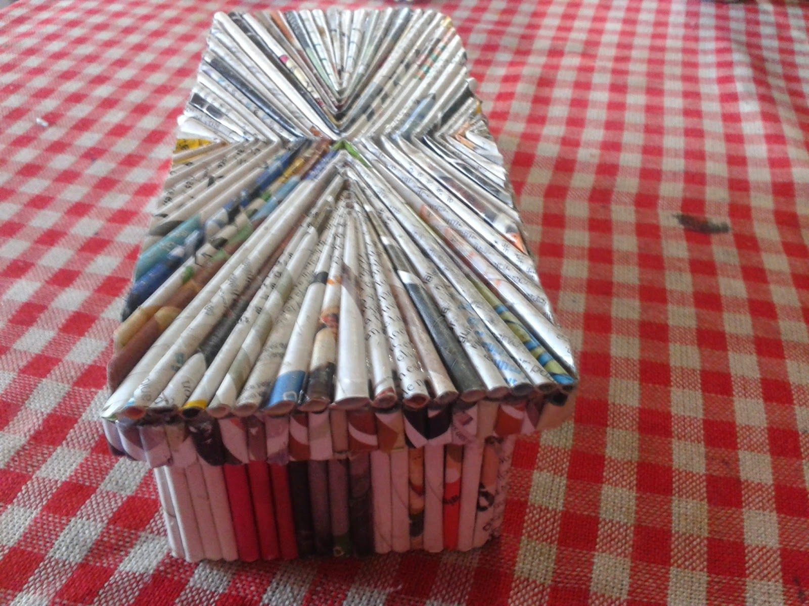 Cesteria en papel paso a paso buscar con google - Cesteria con papel periodico paso a paso ...