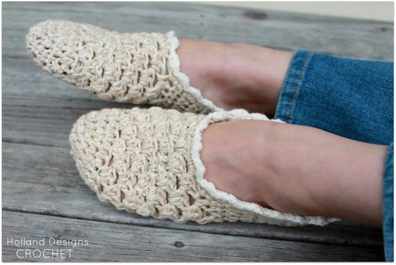 d98031587fb0 Download Now - CROCHET PATTERN Simple Living Slippers - Ladies Sizes -  Pattern PDF