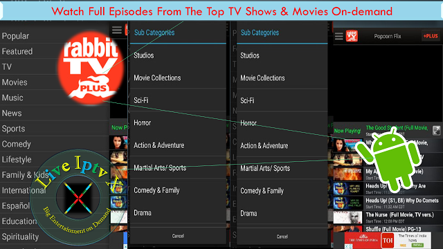 Rabbit TV Plus Apk For Watch Movies On-demand and TV Shows