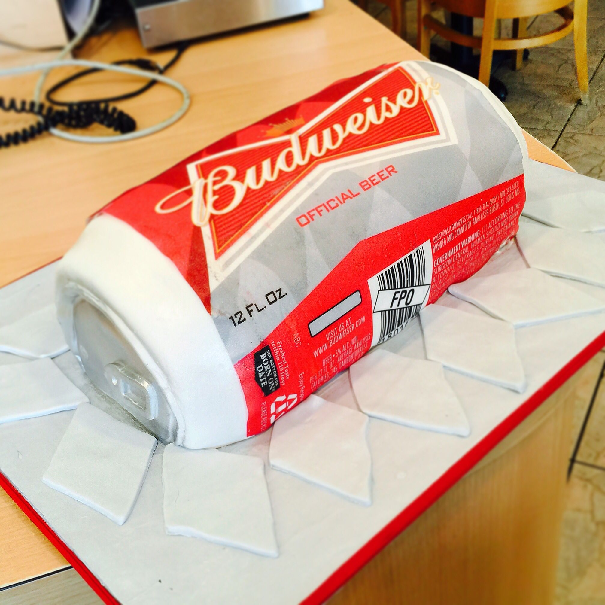 Cheers Summer is almost over Enjoy with a Budweiser cake