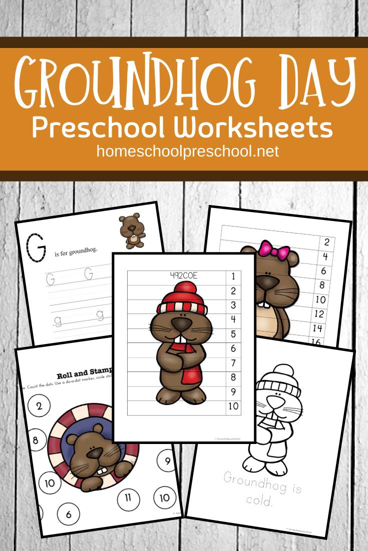 Free Groundhog Day Worksheets For Preschoolers Groundhog Day Activities Groundhog Day Preschool Worksheets [ 1102 x 735 Pixel ]