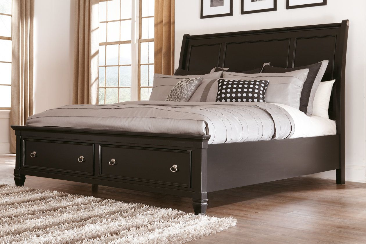 Greensburg Queen Sleigh Bed with Storage Ashley
