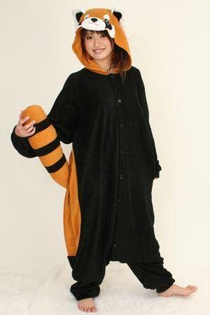 d50b1d7e Japan Sazac Original Kigurumi Pajamas Halloween Costumes Red Panda $47.40