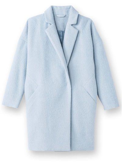 Manteau forme ovoïde BLEU GRISE+MARINE   Manteau bleu clair