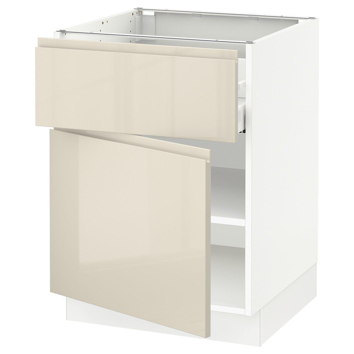 IKEA SEKTION / MAXIMERA White, Voxtorp High-Gloss Light ...