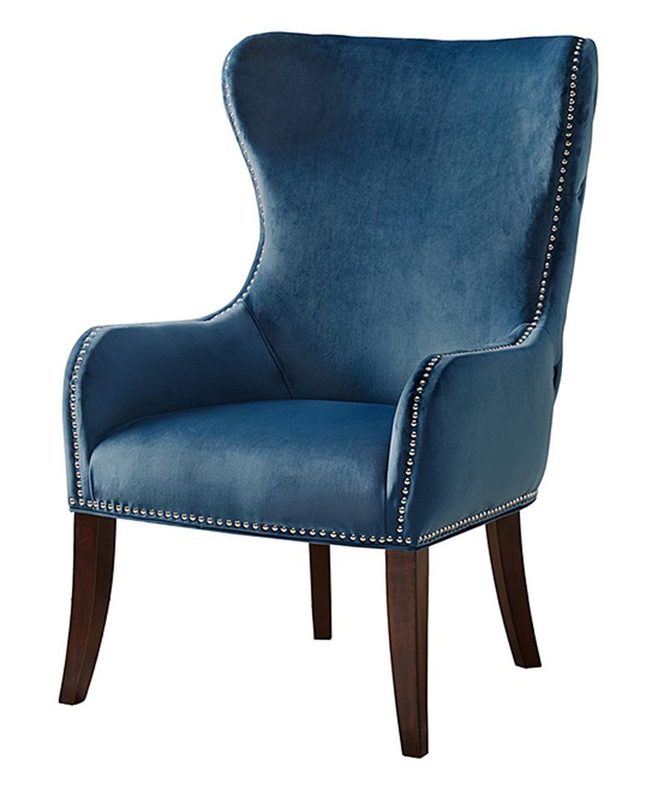 Stupendous Loving This Slate Blue Button Tufted Accent Chair On Zulily Creativecarmelina Interior Chair Design Creativecarmelinacom