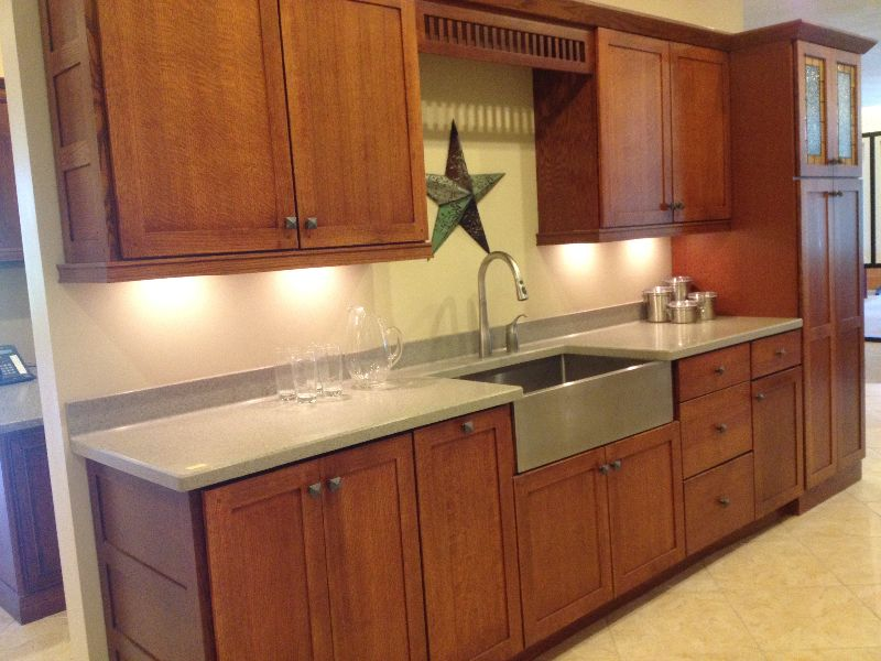 Quarter Sawn Oak Kitchen Cabinets | kalamazoo-display-kraftmaid ...