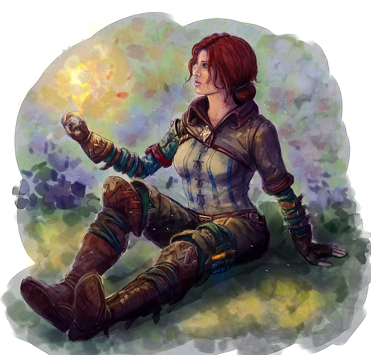 Triss coloured by BlackAssassiN999 on deviantART The