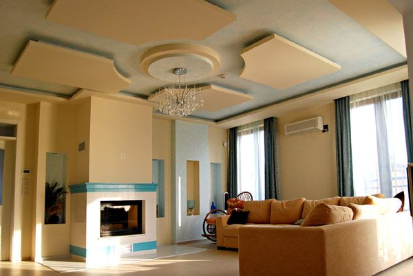 Types Of Ceilings | House Bojurishte 034 Modern Ceilings With Hidden  Lighting Features By .