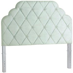 Pier 1 Imports Hayworth Seafoam King Headboard Silver Queen