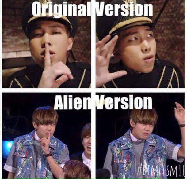 Original vs Our Alien's version