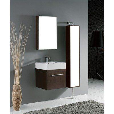 Arezzo 20 Wall Mounted Bathroom Vanity Set In Walnut By Madeli 530 10 B911 20 002 Wa Contemporary Bathroom Vanity Universal Design Bathroom Bathroom Vanity