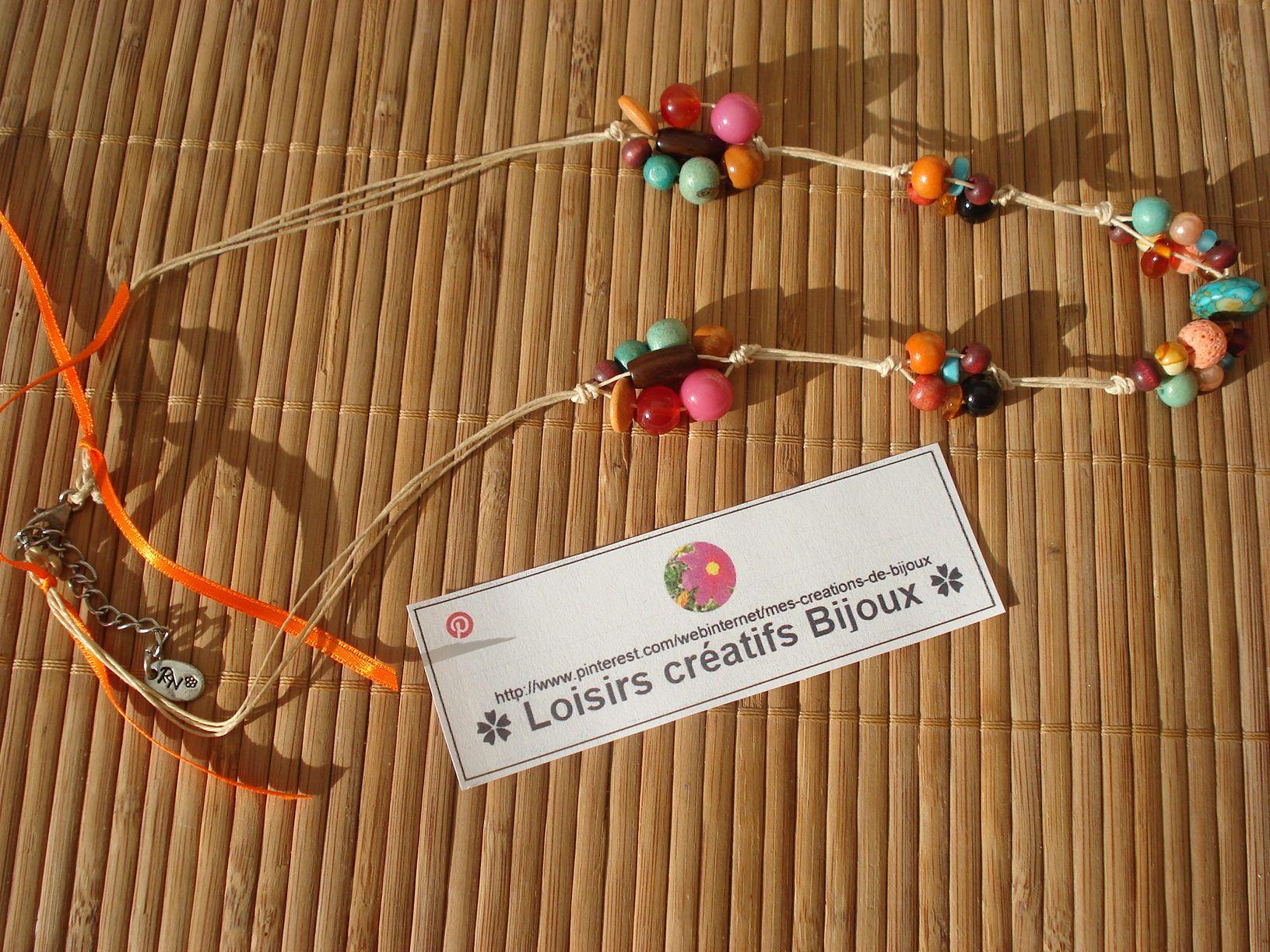 ✿MES CREATIONS DE BIJOUX✿ ❤️ naviginternet@orange.fr ❤️ Création de colliers naturels. MON BLOG : http://creatrice-bijoux.blogspot.fr