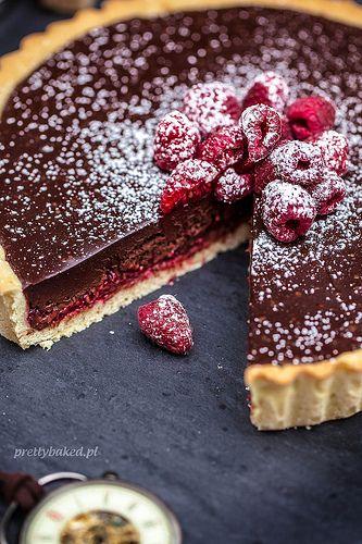 Raspberry chocolate torte #cakesanddeserts