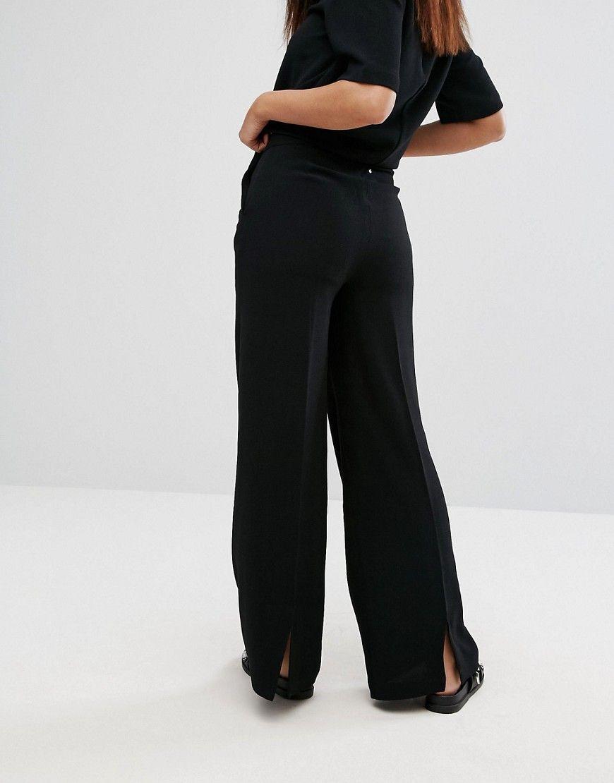 Back by Ann Sofie Back Flap Tie Hem Pants - Black