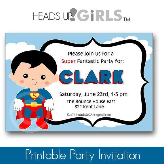 Superman Invitation Fiestas Temáticas Cumpleaños Y Fiesta
