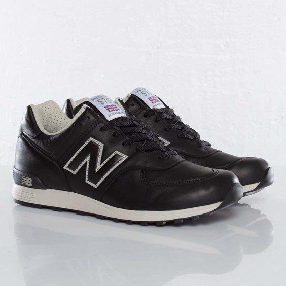 New Balance 576 Black Leather