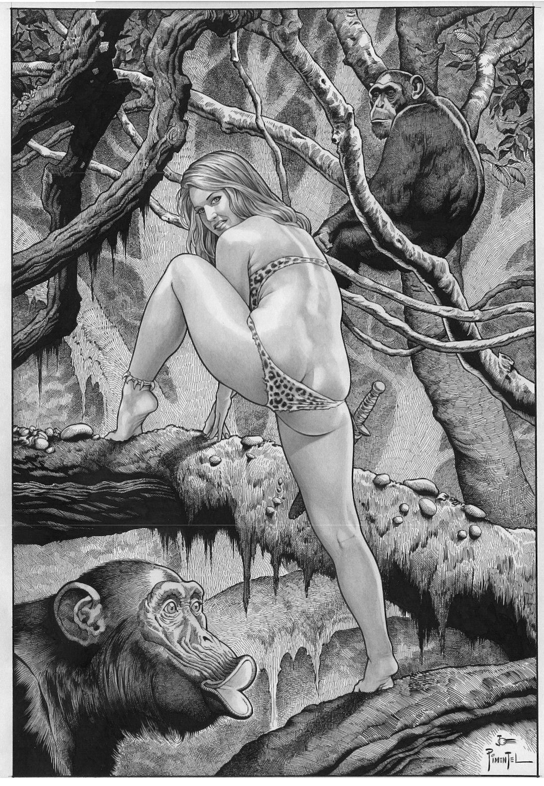 Jungle girl adult comics