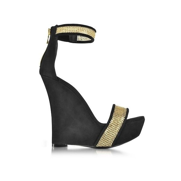 Balmain Designer Shoes, Samara Python Wedge Sandals