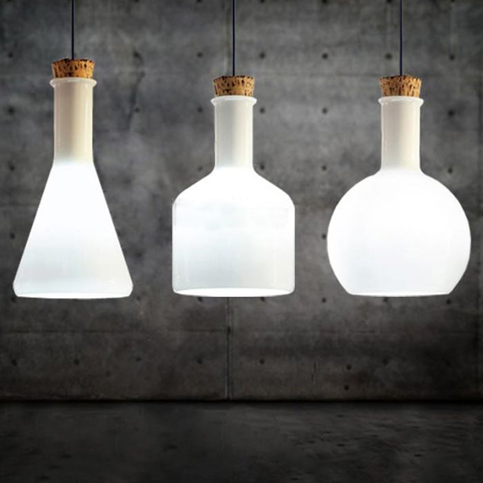 Hot modern lab hotel cafe bar pendant 3 set lamps ceiling chandelier