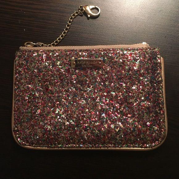 Kate Spade mini pouch Multi glitter mini pouch great as small wallet kate spade Bags Wallets