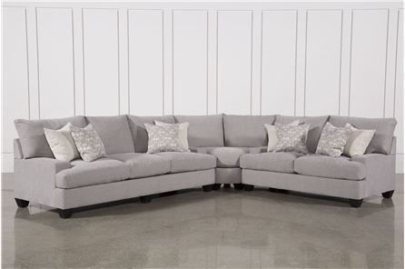 Harper Down 3 Piece Sectional Main 3 Piece Sectional Sectional Sofa Living Room Sectional