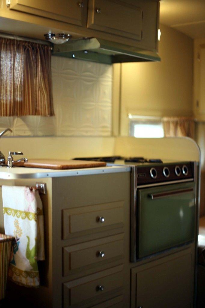 Inspiring vintage camper interiors | Vintage Trailer | Cupcake Heaven | Megan Clouse