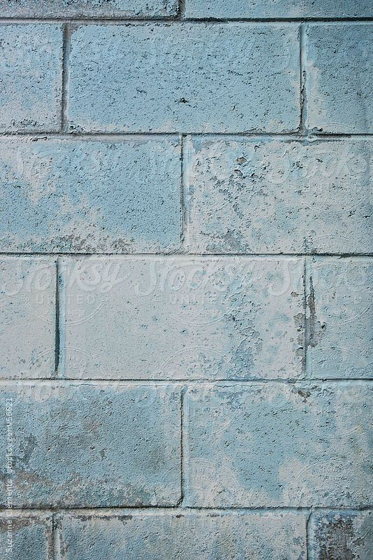 Blue Cinder Block Wall By Suzanne