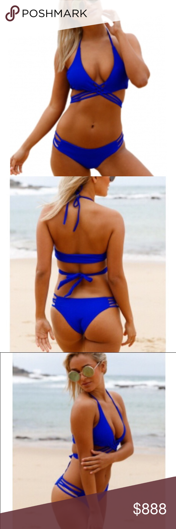 """SALE!! HPJUST INNEW Sexy Royal Blue Bikini JUST IN- NEW! Hot Hot Hot sexy bikini in royal blue! Runs small and has very cheeky bottom!  Host Pick """"Best in Boutiques"""" 5/17/17  Swim Bikinis"""